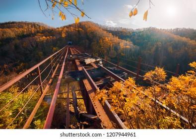 Devil's bridge-the bridge in the Sakhalin region, located on the semi — dismantled railway stretch Nikolaychuk-Kamyshevo-Sakhalin.