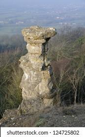 Devil's Chimney, Leckhampton Hill Limestone pillar overlooking Cheltenham