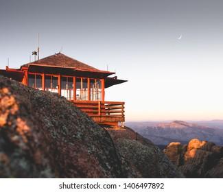 Devils Head Fire Lookout early one morning.