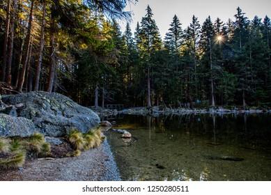 Devils Lake (Certovo Jezero), Glacier lake in Sumava National Park, Czech republic