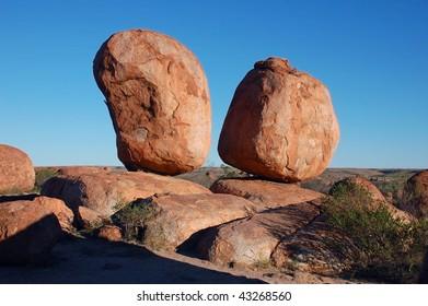 Devil's marbles rock formation in Australia
