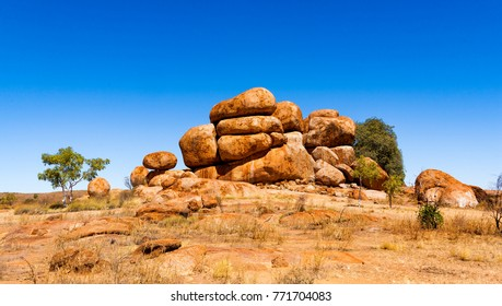 Devils Marbles are a tourist destionation in Northern Territory