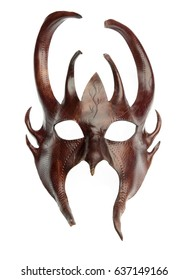 the devil's mask of brown leather