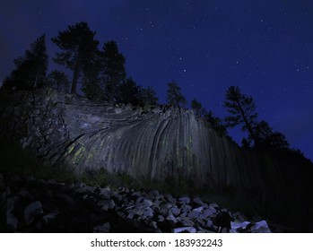 Devils Postpile National Monument Volcanic Rock Formation Astrophotography