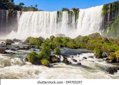 Devil's Throat (Garganta del Diablo) is the biggest of the Iguazu Waterfalls