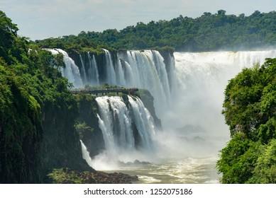 Devil's Throat at the Iguazu Falls in Argentina and Brazil