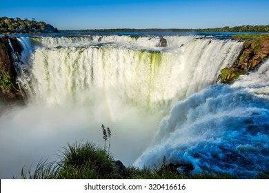 Devil's Throat at Iguazu Falls, one of the world's great natural wonders, on the border of Argentina and Brazil.