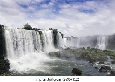 Devil's Throat. Waterfall in the Iguazu