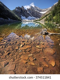 Devil's Thumb, Mount Whyte, and Lake Agnes Lake Louise, Banff National Park, Alberta, Canada 4 Pictures stitched Vertically Picture taken on August 22, 2015