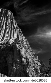 Devils Tower (also know as Bear Lodge Butte) in the Bear Lodge Mountains (part of the Black Hills) near Hulett and Sundance in Crook County - northeastern Wyoming USA