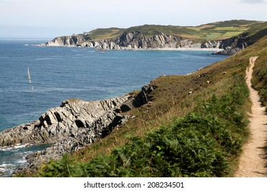 The Devon coastal path is particularly spectacular at this point, and around the corner is the famous Woolacombe Beach