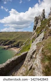Devon Coastline near Salcombe, Devon, England.