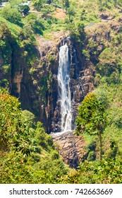 Devon Waterfall near Nuwara Eliya, Sri Lanka.