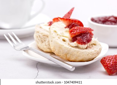 Devonshire Cream Tea (Cream on the bottom Jam on top)