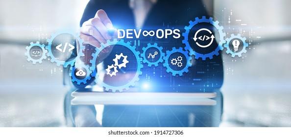 DevOps Methodology Development Operations agil programming technology concept.