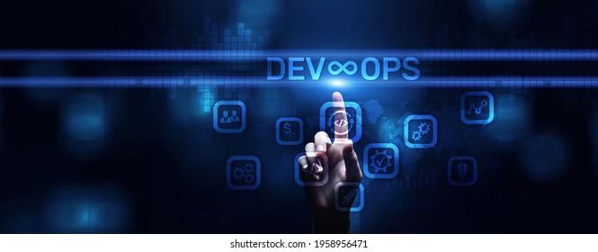 DevOps Methodology Development Operations agil programming technology concept. - Shutterstock ID 1958956471