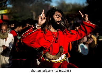 Devotee dance at the shrine of Madhu Lal Shah Hussain, a poet also regarded as a Sufi saint, during an annual festival to celebrate him in Lahore, Pakistan, Saturday, March 30, 2019.