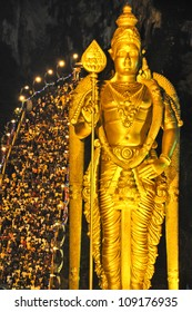 Devotees on Thaipusam Day