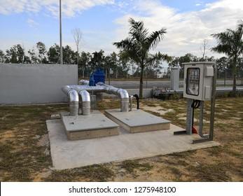 Dewatering pump sump pit