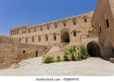Deyrulzafaran Monastery, Mardin is a historical city in Southeastern Anatolia, Turkey.