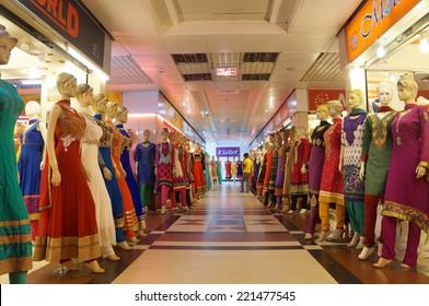 DHAKA, BANGLADESH - AUGUST 30:Bashundhara City, the largest shopping mall in Dhaka on August 30, 2014.