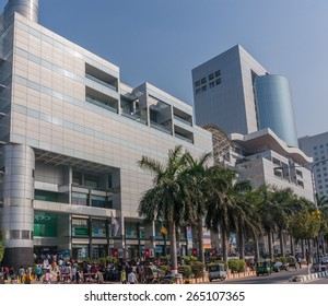 DHAKA, BANGLADESH - JANUARY 27: Bashundhara City shopping mall on Jan 27, 2015 in Dhaka, Bangladesh. It features around 2,500 retail stores, a multiplex movie theater, and a top floor food court.