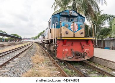 Dhaka, Bangladesh - July 1, 2016 : Dhaka Rail station during rush hour in dhaka, bangladesh