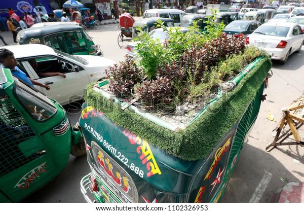 Dhaka Bangladesh May 12 2018 Green Stock Photo (Edit Now) 1102326953
