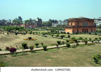 Dhaka, Bangladesh-March 21, 2006: Lalbagh Fort is an incomplete 17th century Mughal fort complex that stands before the Buriganga River in the southwestern part of Dhaka, Bangladesh on March 21, 2006.