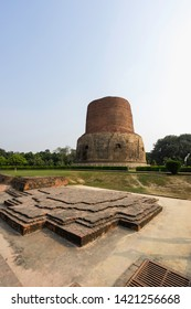 Dhamek Stupa is a massive stupa located at Sarnath, 13 km away from Varanasi in the state of Uttar Pradesh, India. One of famous place for Buddism came to respect Lord Buddha.