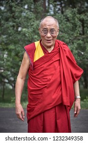 Dharamsala, India July 2009. The 14th and current Dalai Lama, Tenzin Gyatso, spiritual leader of the Tibetan people, at his home in Mcleod Ganj.