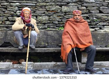 Dharamshala , India - March 18, 2019: Locals Dharamsala, North India.