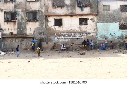 Dharavi, Mumbai, India – January 30, 2019: This picture shows a slum life scene from one of biggest slum areas in the world.