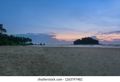 Dharmadam Island Evening View, beautiful Blue Cloudy Sky and Beach  Nature Beauty Kerala god's own country