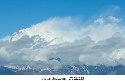 Dhaulagiri peak the 8th hihgest mountain in the world