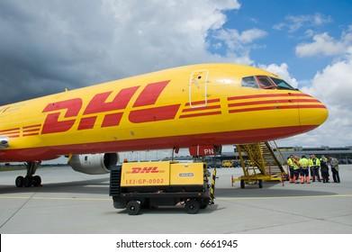 DHL cargo aircraft