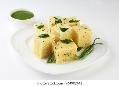 Dhokla/Indian savory snack made of chick pea flour