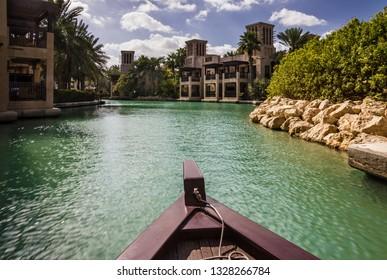 Dhow boat in Madinat Jumeira, Dubai, UAE