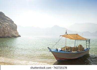 Dhow boat near the Musandam, Oman