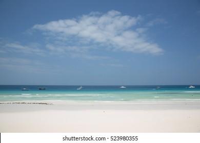 Dhow Fishing Boat in the Indian Ocean, Zanzibar, Tanzania
