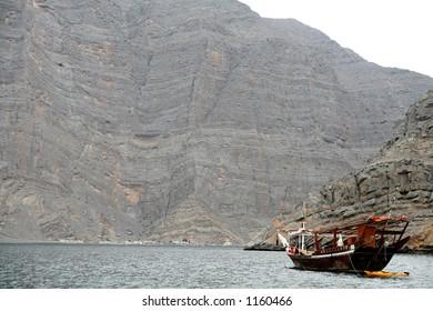 Dhow at Musandam Peninsula, Oman