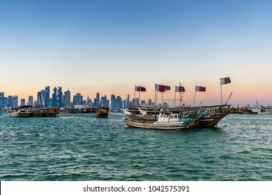 Dhow port in Dhoa Bay Qatar