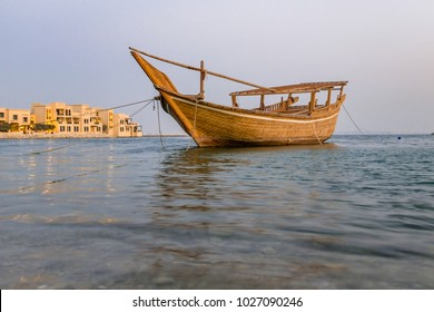Dhow - A traditional Arabic wooden Boat used for fishing, Pearl diving and Transportation