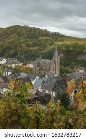 Dhron, Rhineland Pfalz Germany - October 2017: Little Mosel country town of Dhron is displayed in this image.