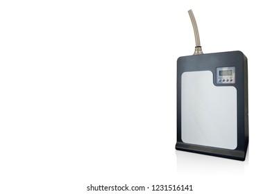 Di cut black aroma machine on white background,copy space