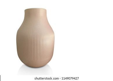Di cut vase on white background,copy space