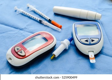 diabestes concept and medical equipment and insulin pen