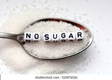 Diabetes concept suggesting no sugar consumption to improve health