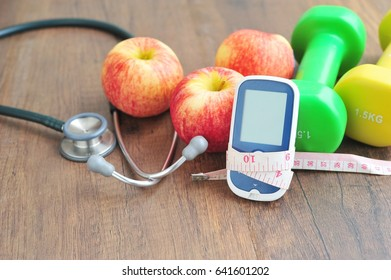 Diabetes control with exercise concept.
