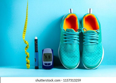 Diabetes. Sports diabetic. Sugar diabetes. Sports diabetics. Glucometer